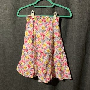 Gymboree Girls Floral Skirt Size 7